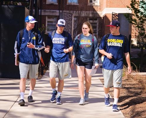 Webster University Campus studerende